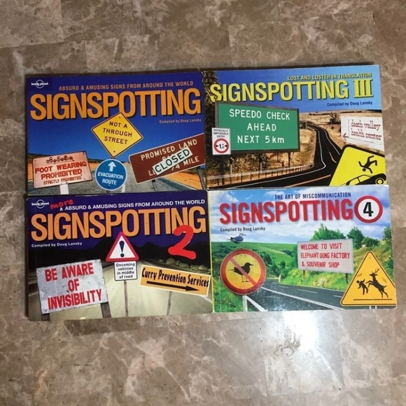 Lonely Planet Signspotting Funny Signs Books